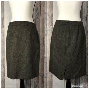 J. Crew Factory Tweed Wool Pencil Skirt 6